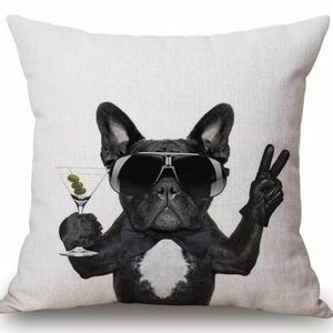French Bulldog accent pillowcase cover Frenchie